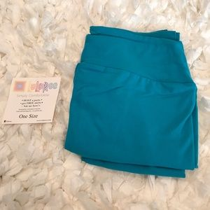 NWT LuLaRoe Solid Teal OS Leggings